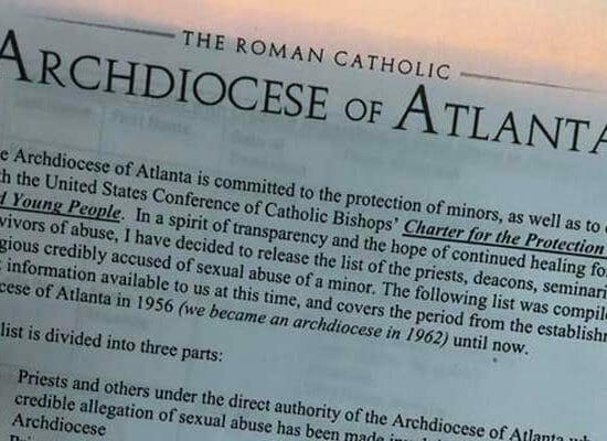 Atlanta: Bombshell Documents Name Catholic Clergy Accused of Abusing Minors